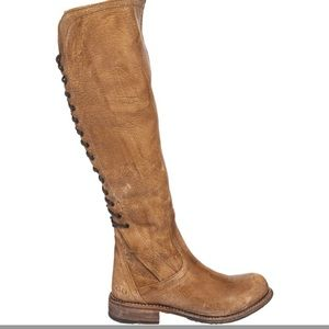 Bed Stu surrey lace up boot in Caramel Lux